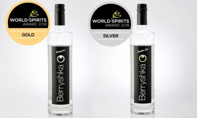 Dve svetovni priznanji za slovenski alkoholni pijači Berryshka