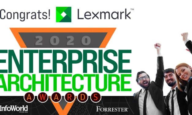 Lexmark prejel nagrado za odličnost arhitekture poslovnih rešitev